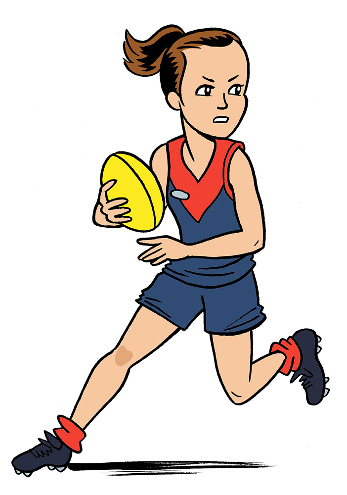 a footy girl s guide  phillip marsden animated football player clipart animated football player clipart
